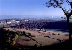 View from Eagles Nest viewpoint near Chepstow